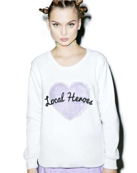 Fur Heart Sweatshirt