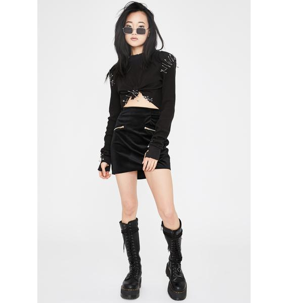 Lira Clothing Molli Zipper Mini Skirt