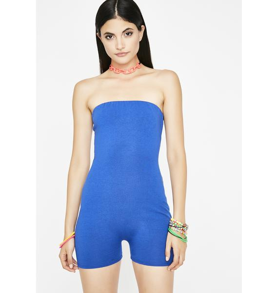 Clear The Air Strapless Romper