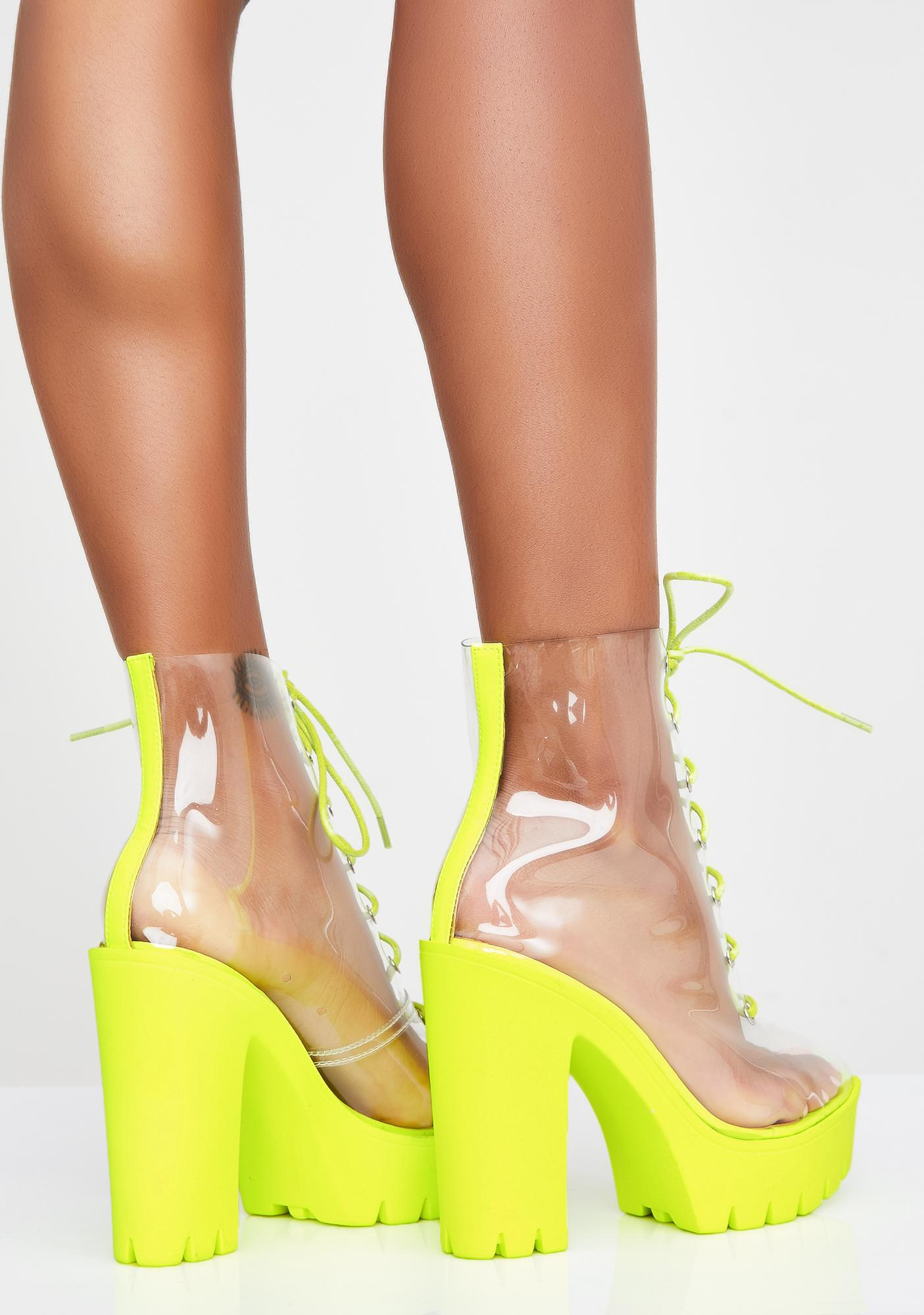Shock Harsh Truth Clear Booties