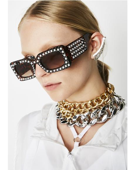 Upper Class Pearl Sunglasses