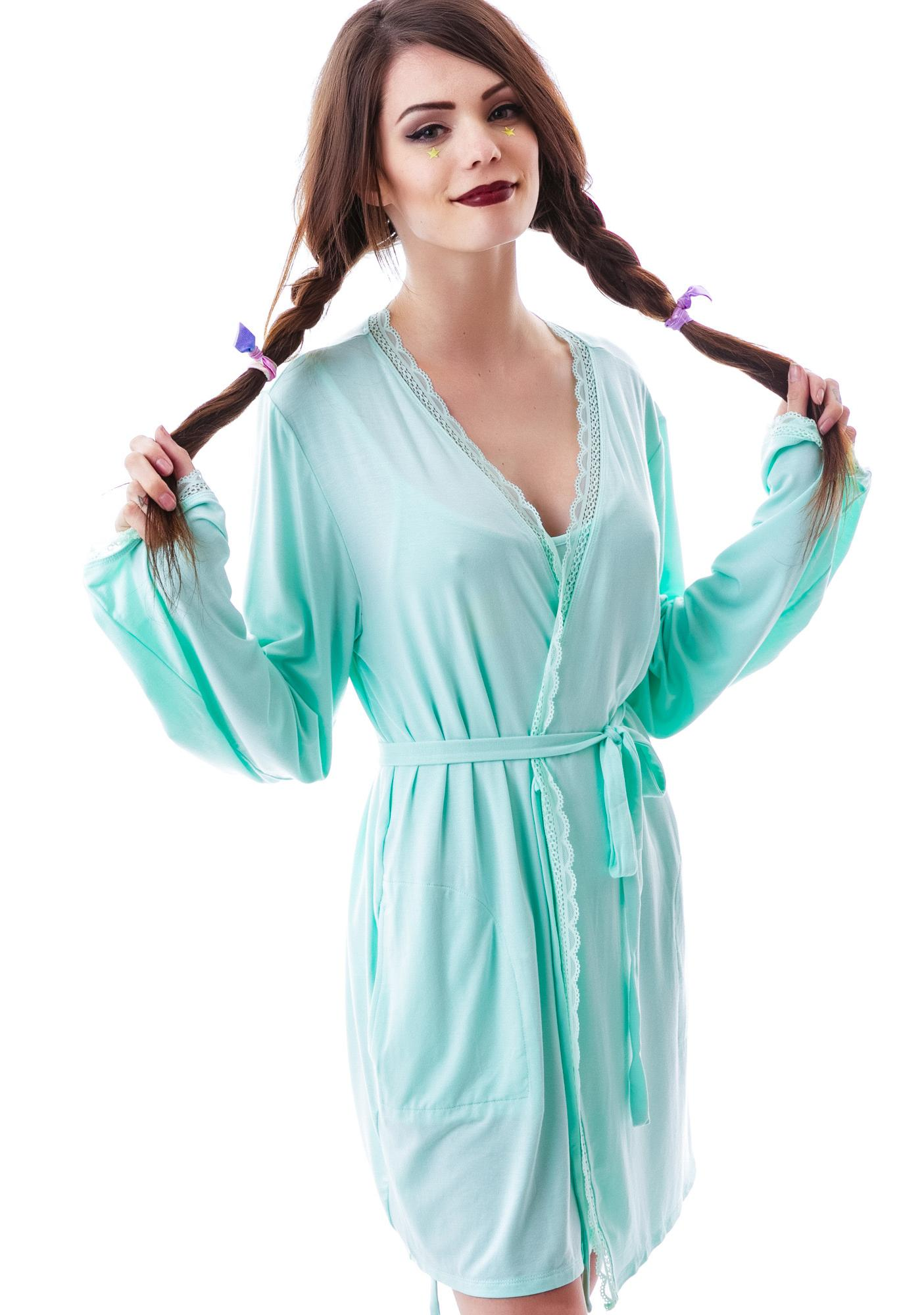 Wildfox Couture Mon Cheri Never Get Dressed Robe