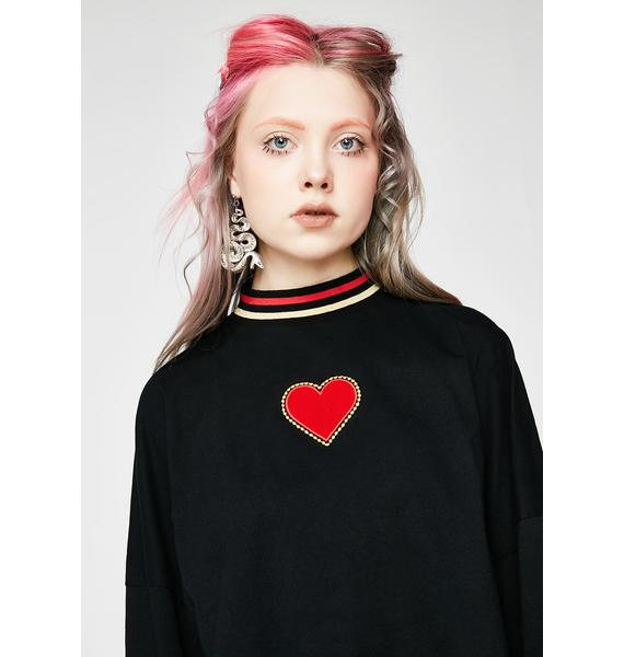 Lazy Oaf Golden Hearted Long Sleeve Tee