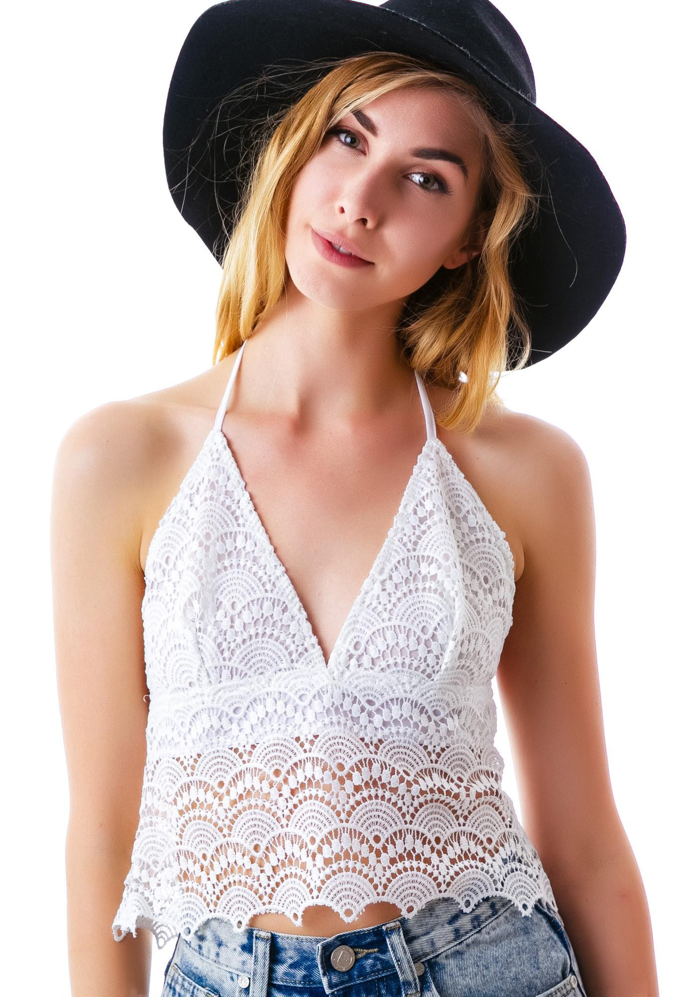 Get It On Crochet Halter Top