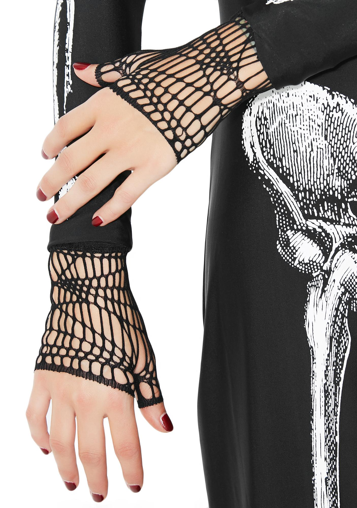 In My Web Fingerless Gloves