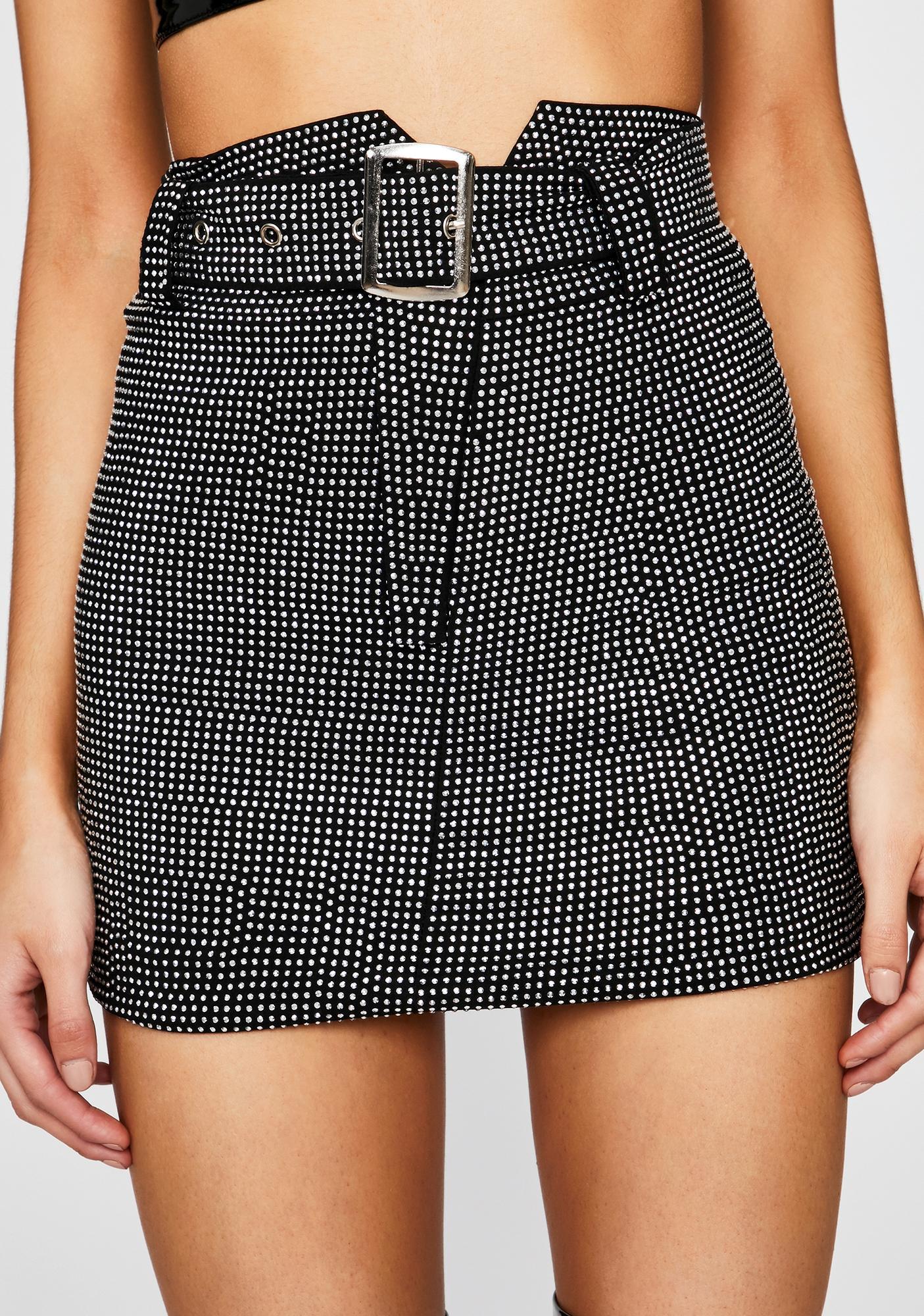 Glam Habits Rhinestone Skirt