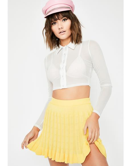 Sunny Slay School Pleated Skirt