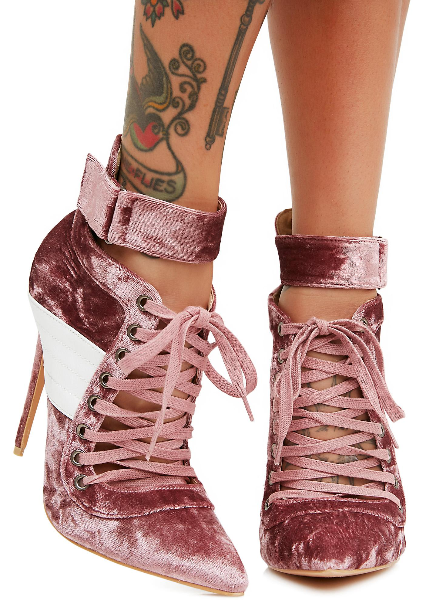 Public Desire Rose Fifi Lace Up Stiletto Ankle Boots