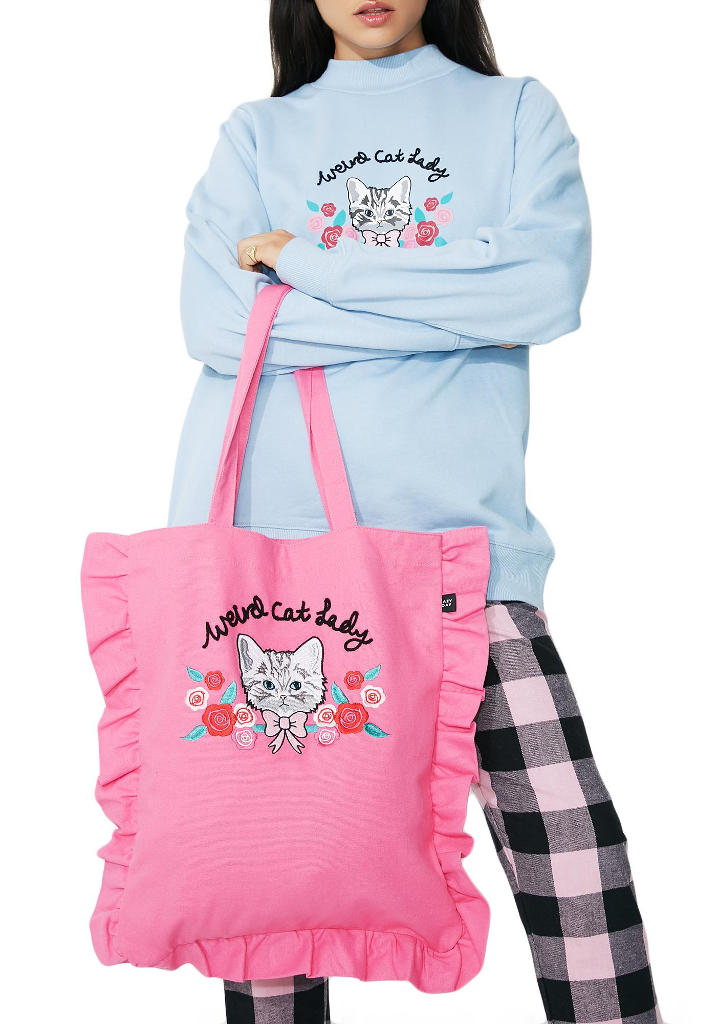 Lazy Oaf Weird Cat Lady Tote