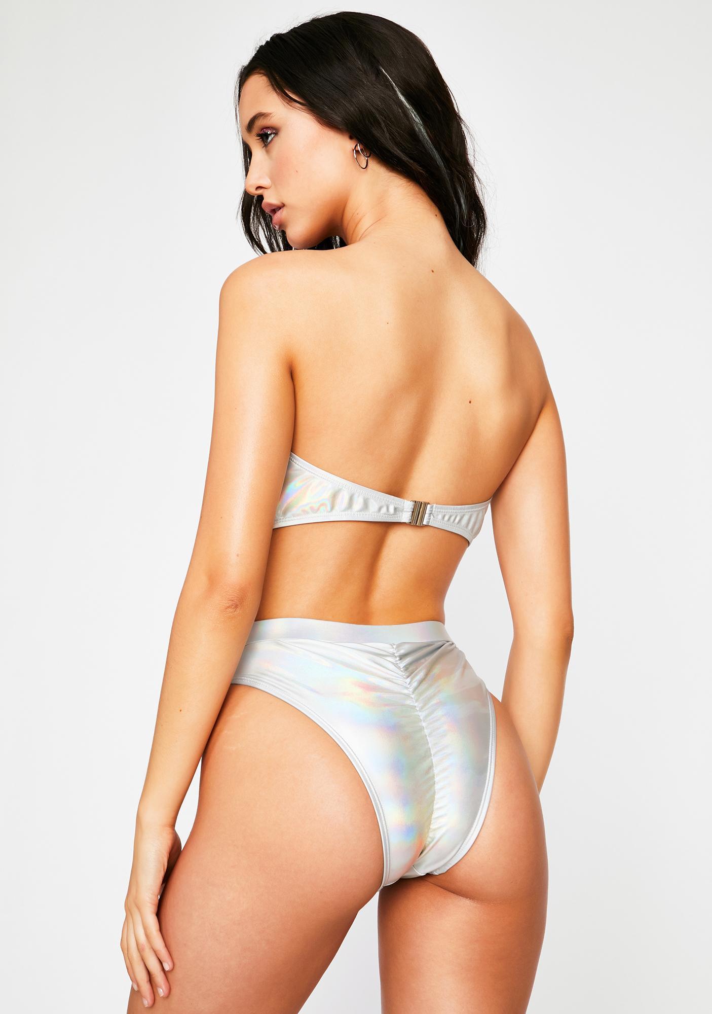 Make It Happen Holographic Bikini Set