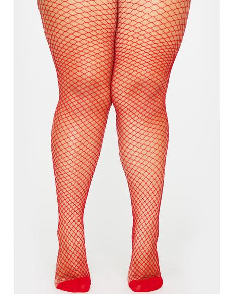 Fire Her Bold Move Fishnet Tights