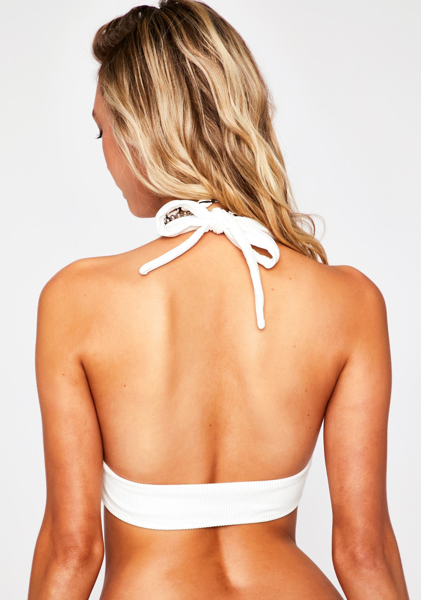 Frankies Bikinis White Billy Bikini Top