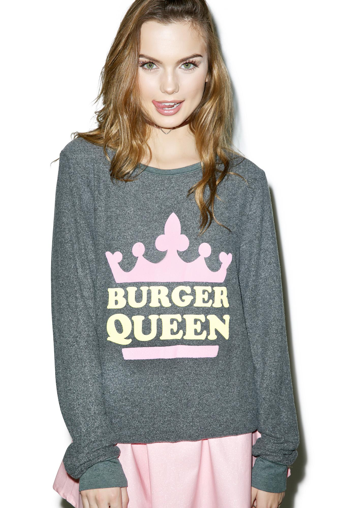 Wildfox Couture Burger Queen Baggy Beach Jumper