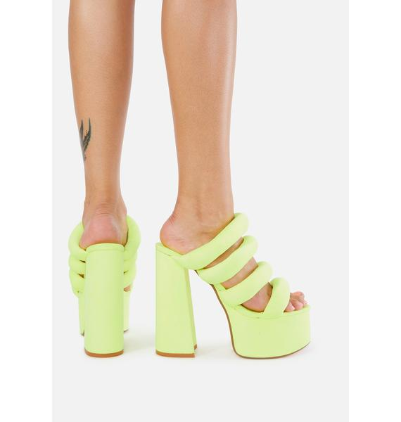 Lemon Drop by Privileged Andrews Platform Heels