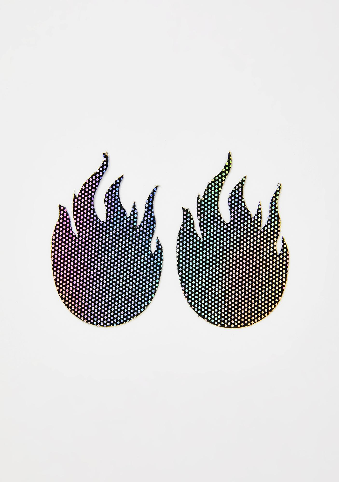 Pastease Rainbow Flames Pasties