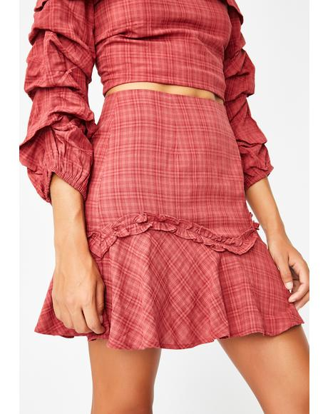 Westbound Plaid Skirt