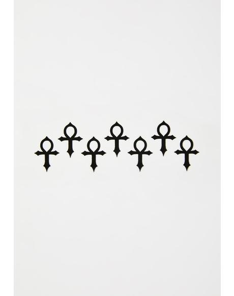 Ankh Face Stickers
