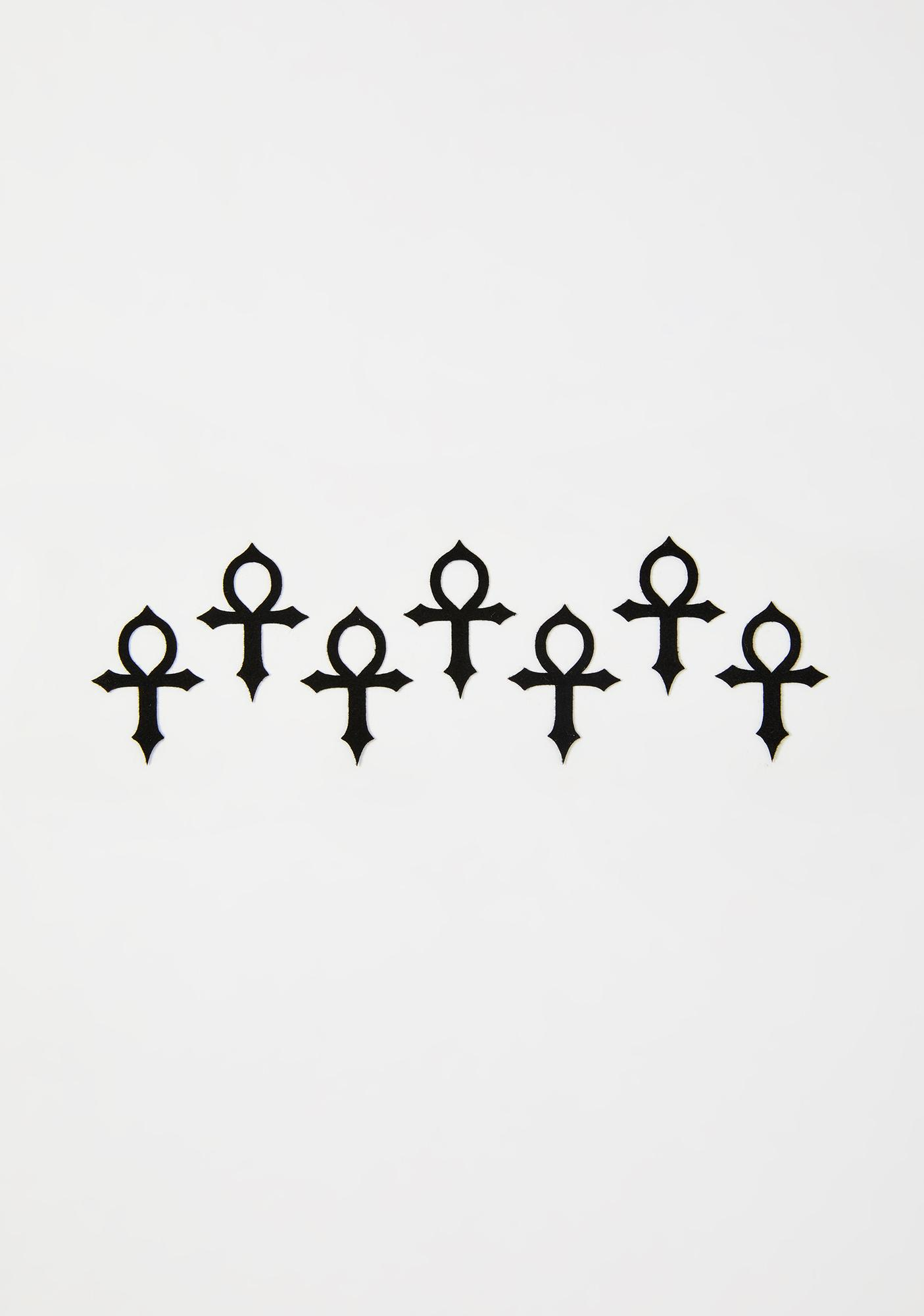 Magic Markings Ankh Face Stickers