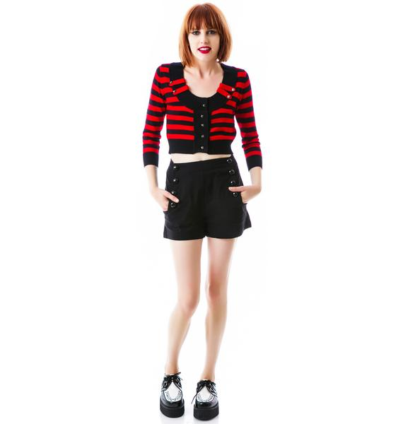 In The Moment Crop Striped Cardigan
