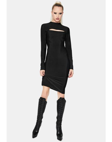Cashin' Out Long Sleeve Midi Dress