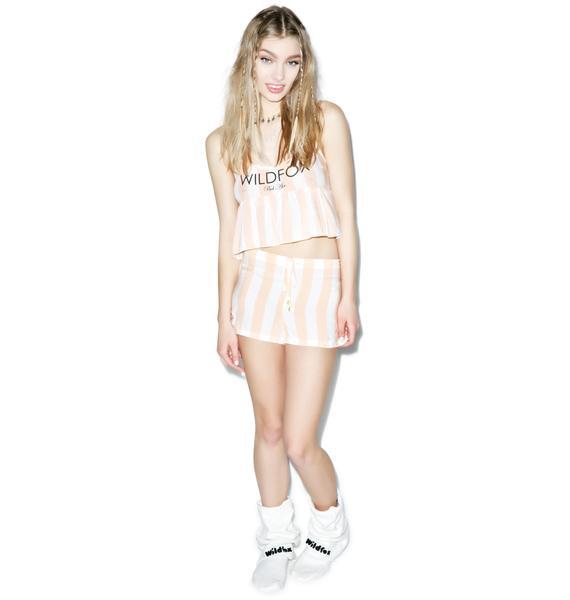 Wildfox Couture Hotel Stripe Sun Shorts