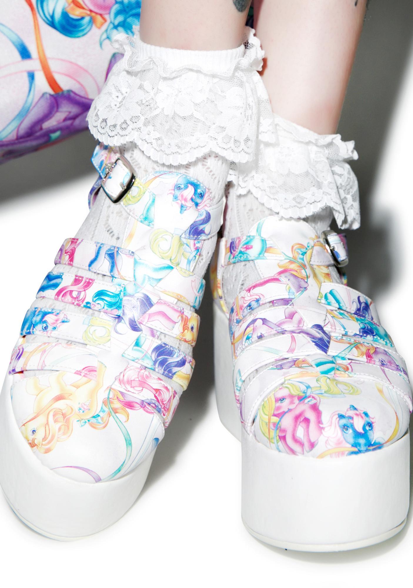 Iron Fist My Little Pony Merry Go Round Platform Sandals