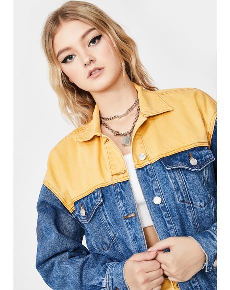 Gimme A Sign Denim Jacket