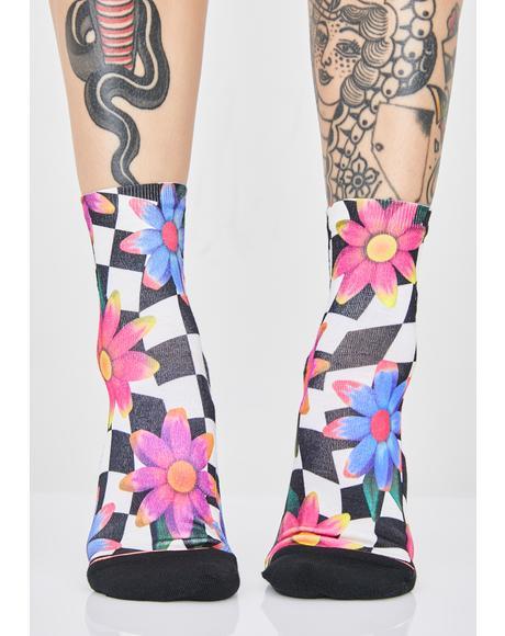 Crazy Daisy Lowrider Socks