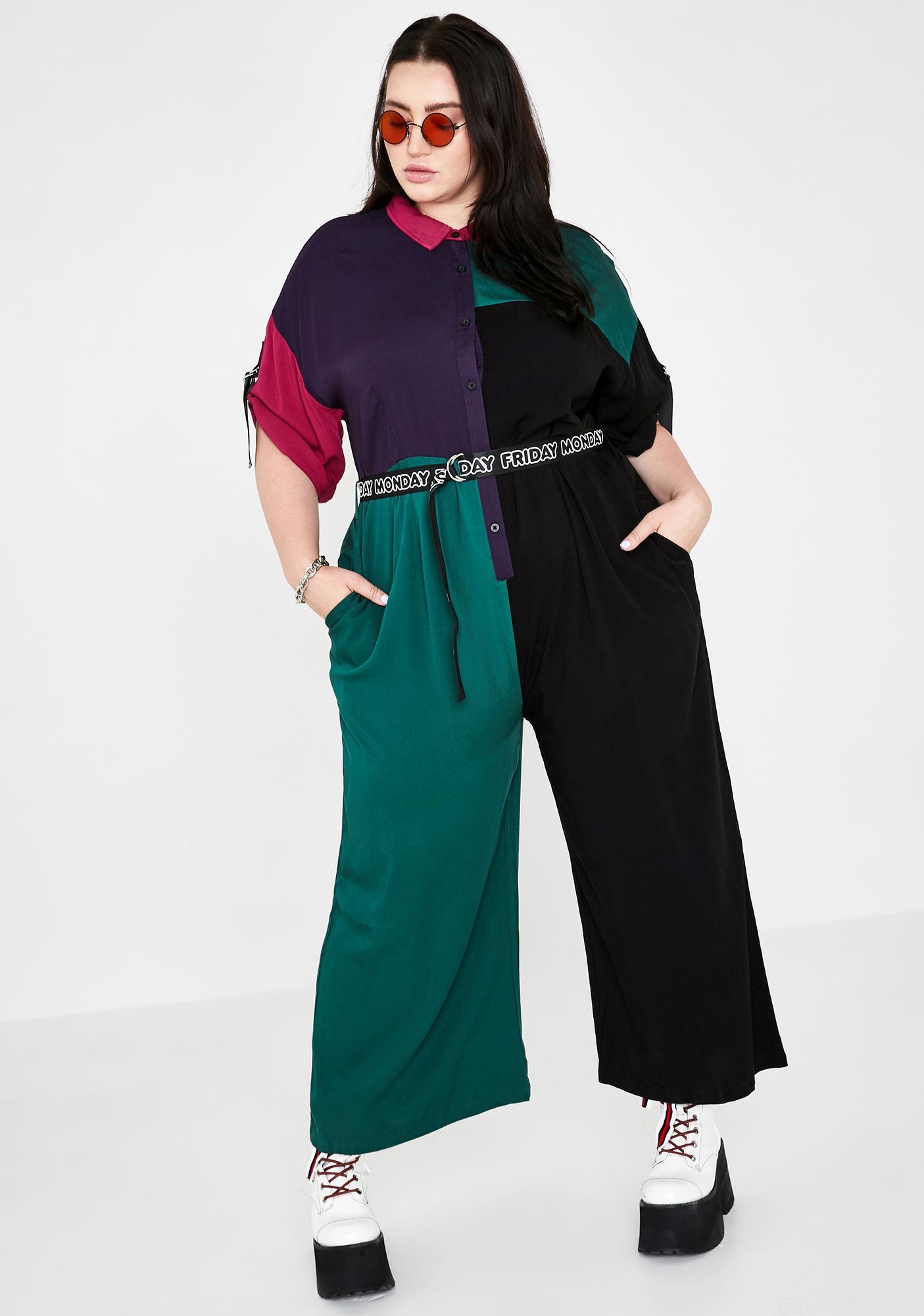 Lazy Oaf True Color Block Jumpsuit