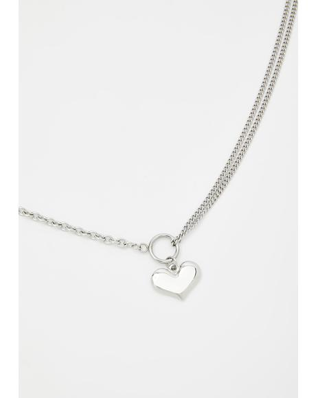 Blinding Love Heart Necklace