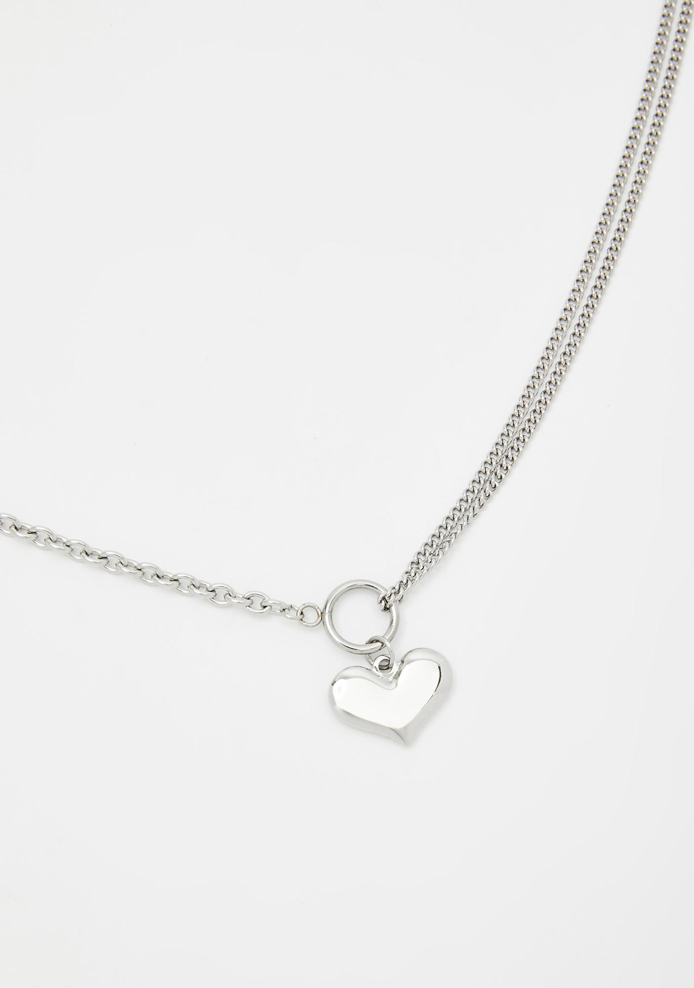Blinding Love Heart Necklace