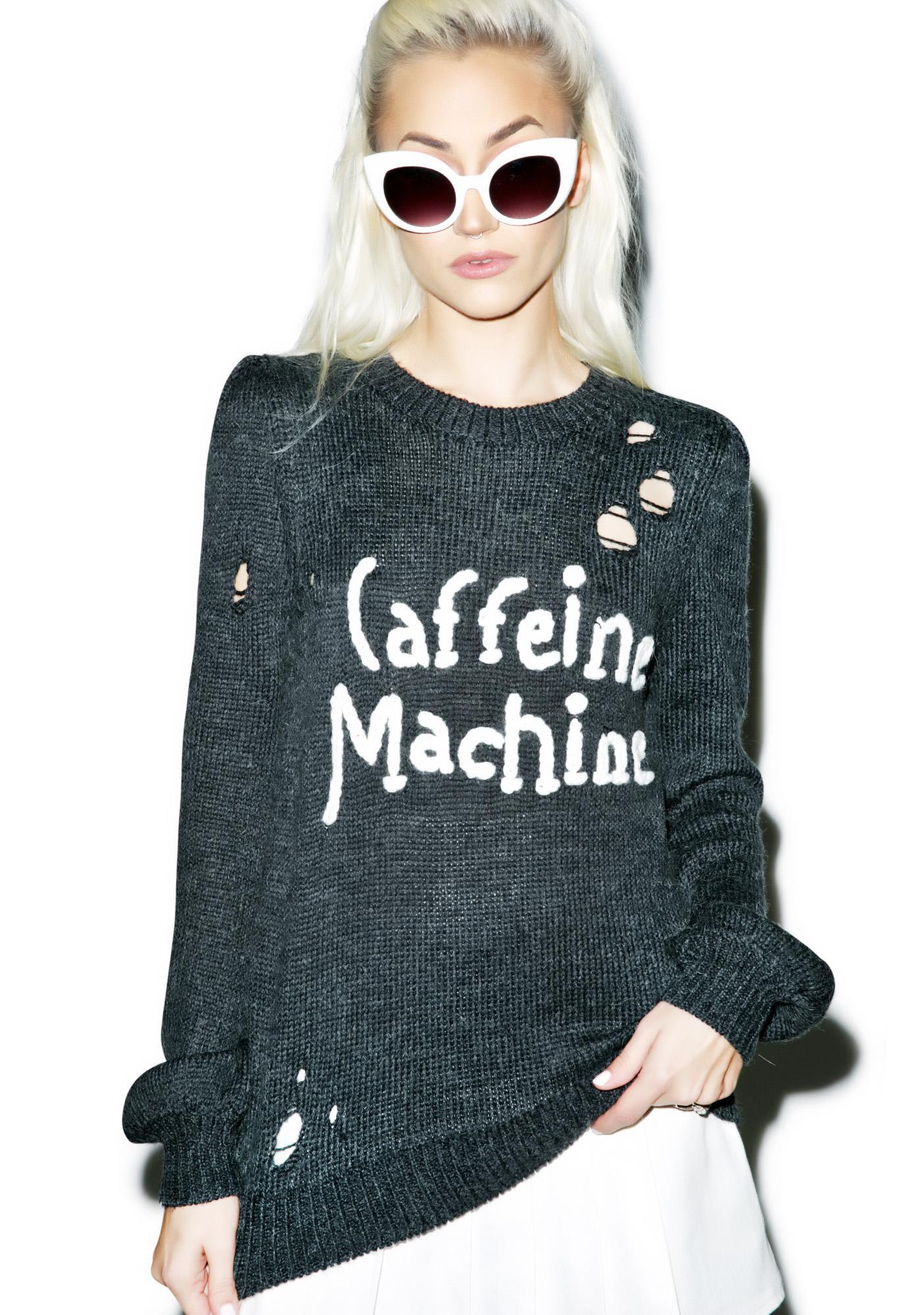 Wildfox Couture Caffeine Machine Misty Sweater