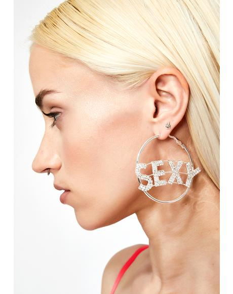 Sexy AF Hoop Earrings