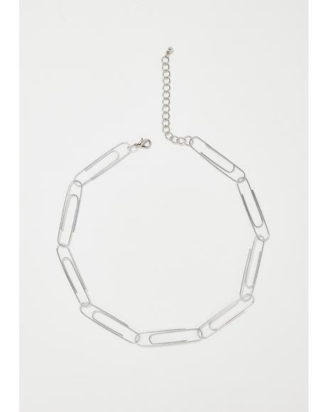 Schoolin' You Paperclip Choker
