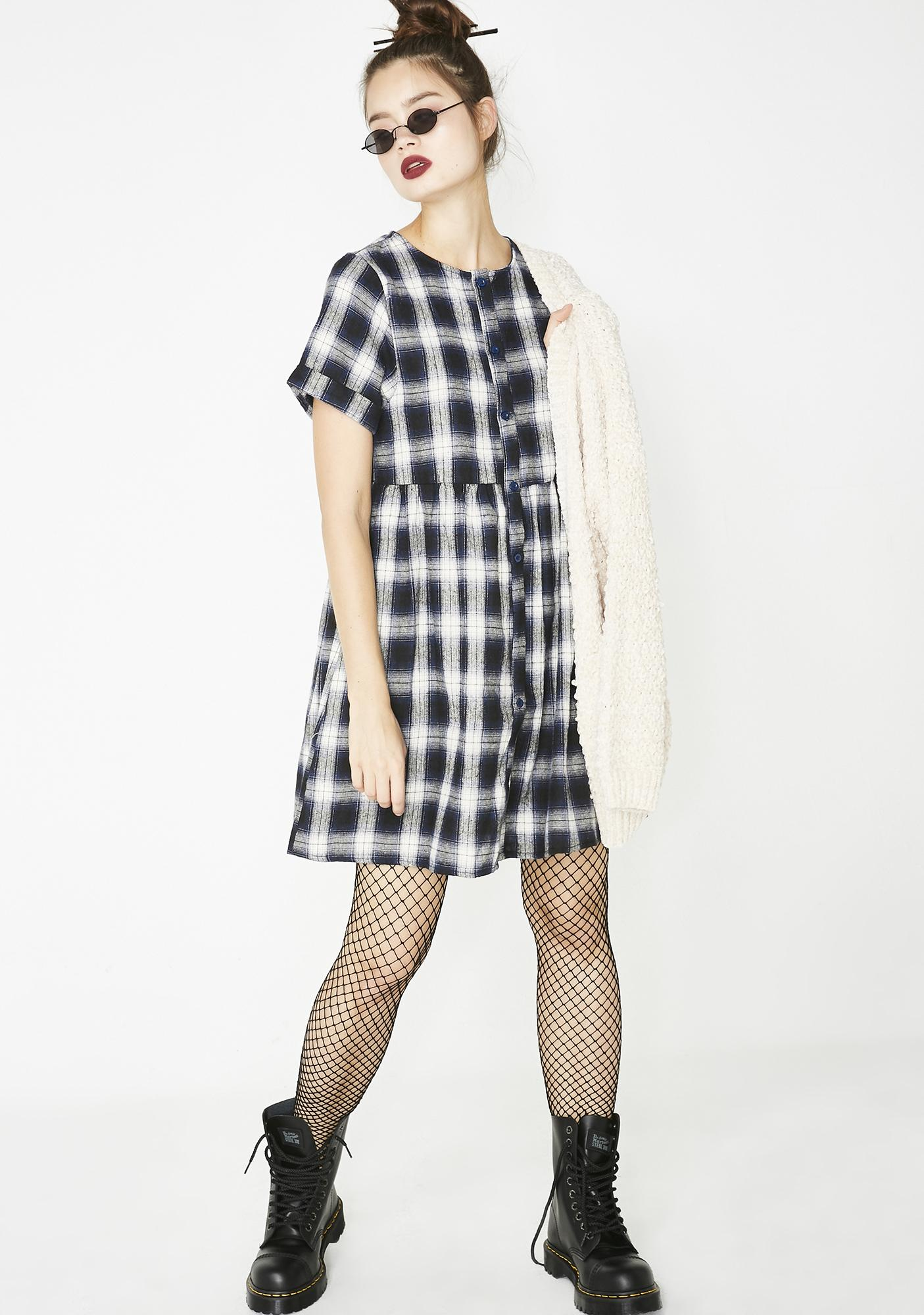 06118fee595 ... Plaid First Time Babydoll Dress