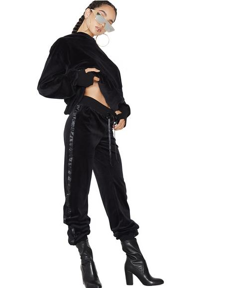 Doll Domination Velour Track Pants