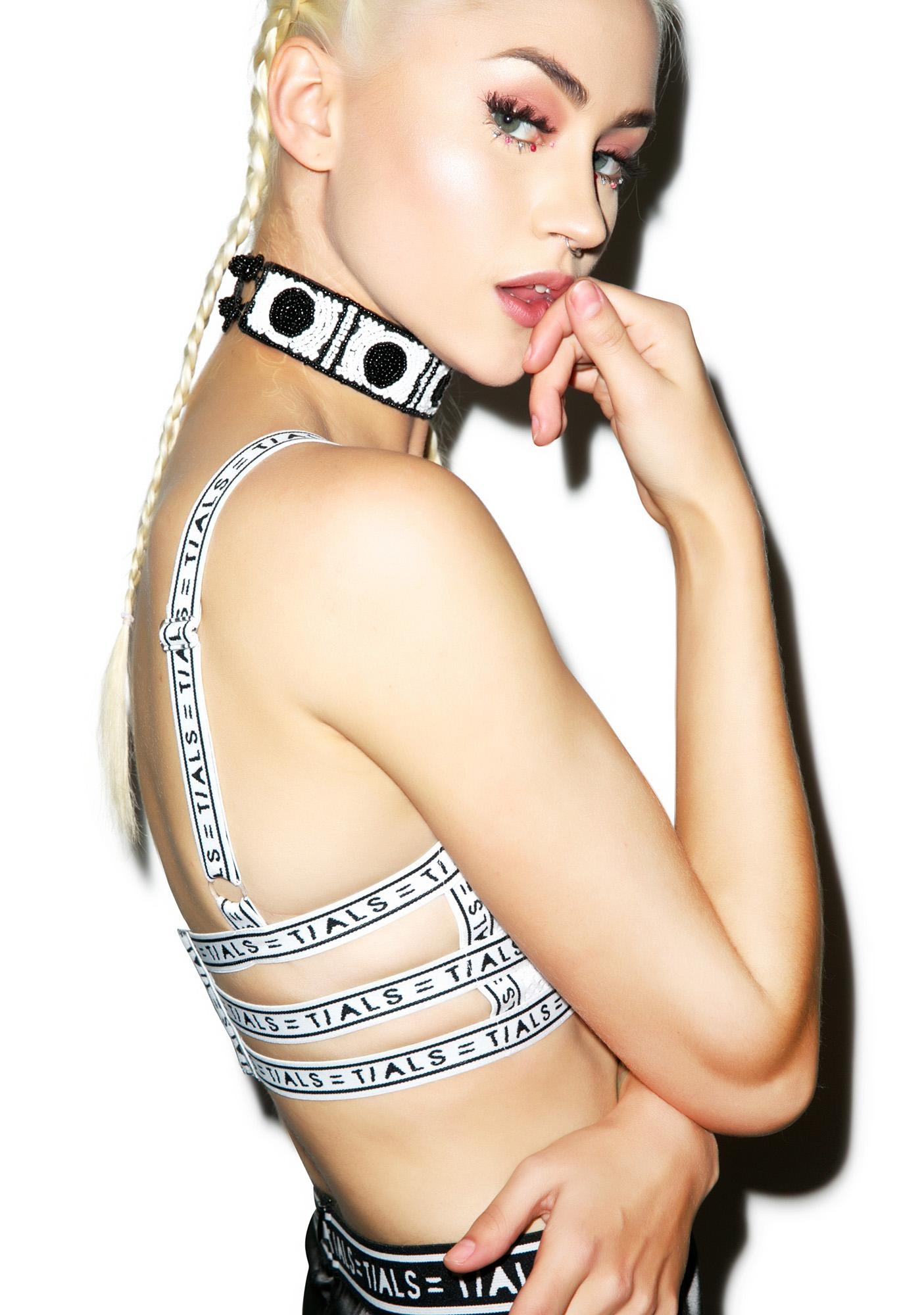 This Is A Love Song Classic Tials Logo Bondage Bra
