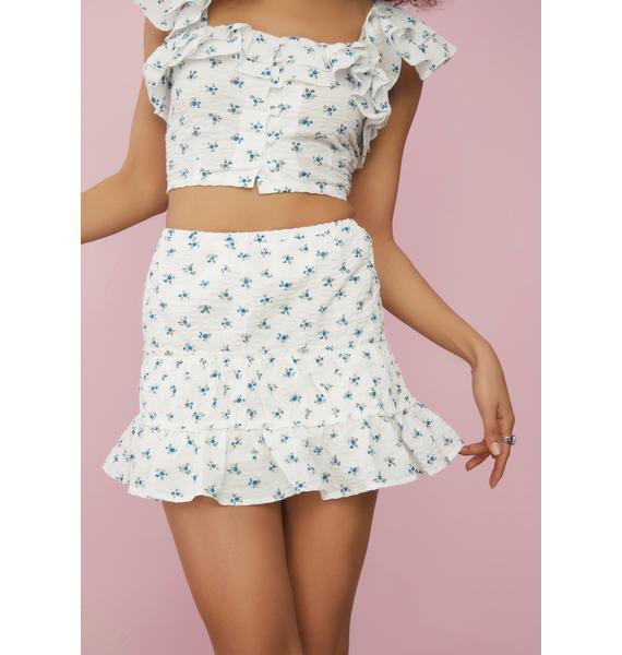 Sugar Thrillz Ur On My Mind Floral Mini Skirt