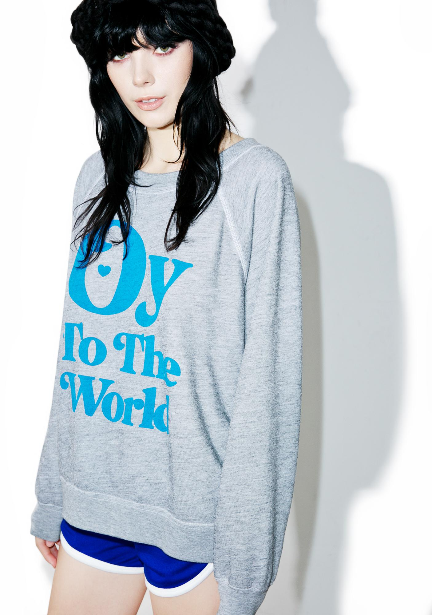 Wildfox Couture Oy To The World Sommer's Sweater