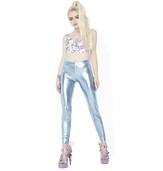 Sugar Thrillz Sugar High Shimmer Lace-Up Leggings