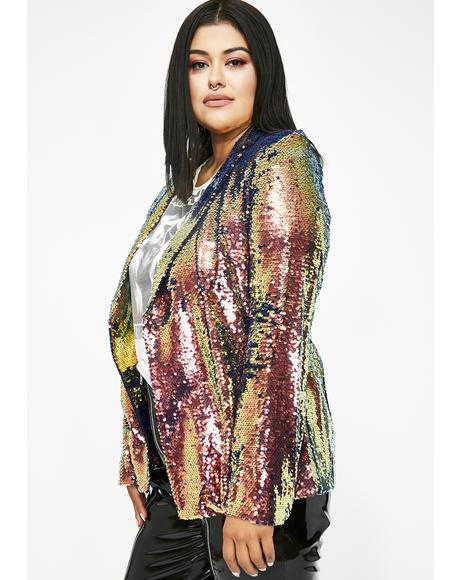 Right At The Top Sequin Blazer