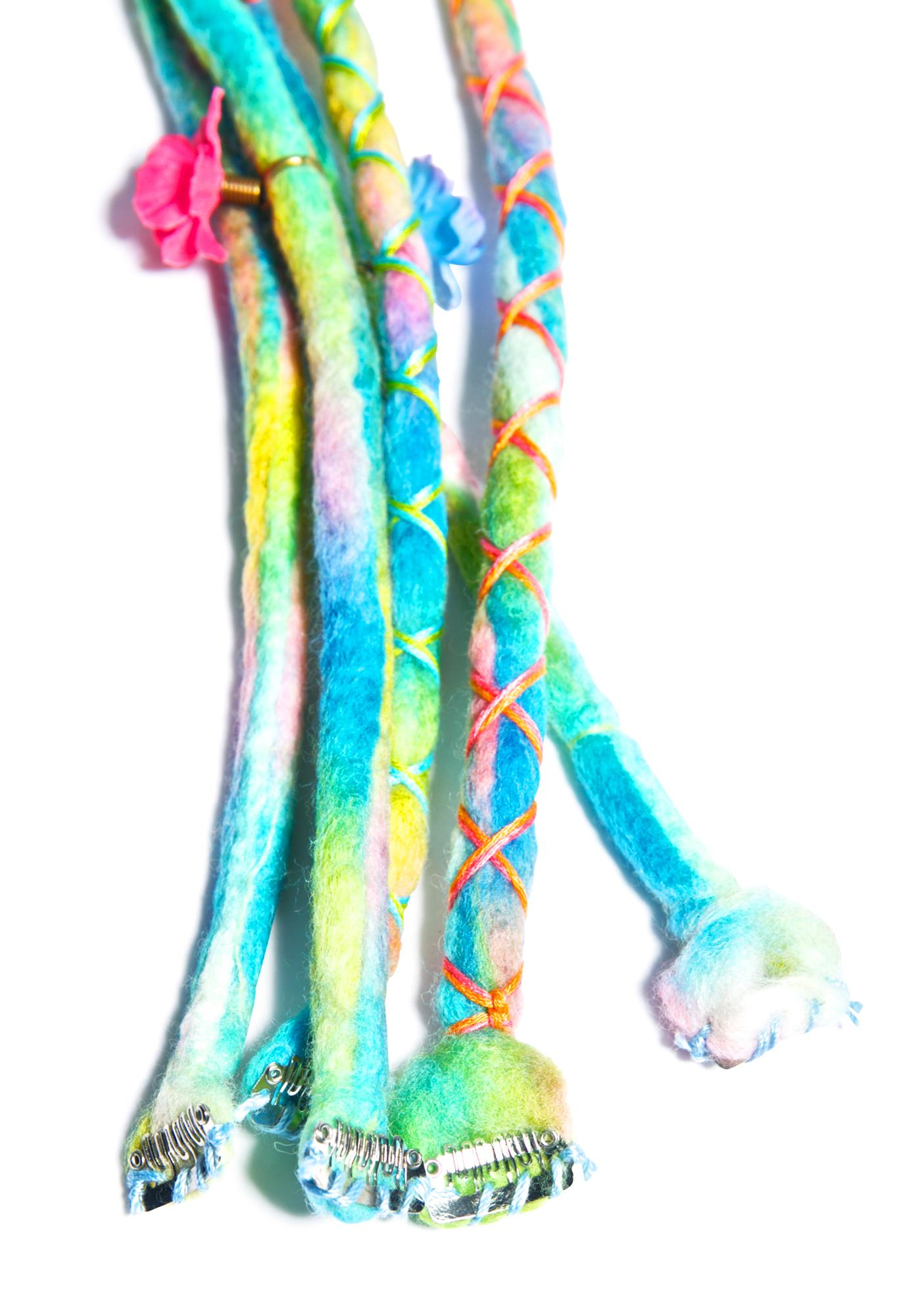 Candy Coated Clip-In Dreadlocks
