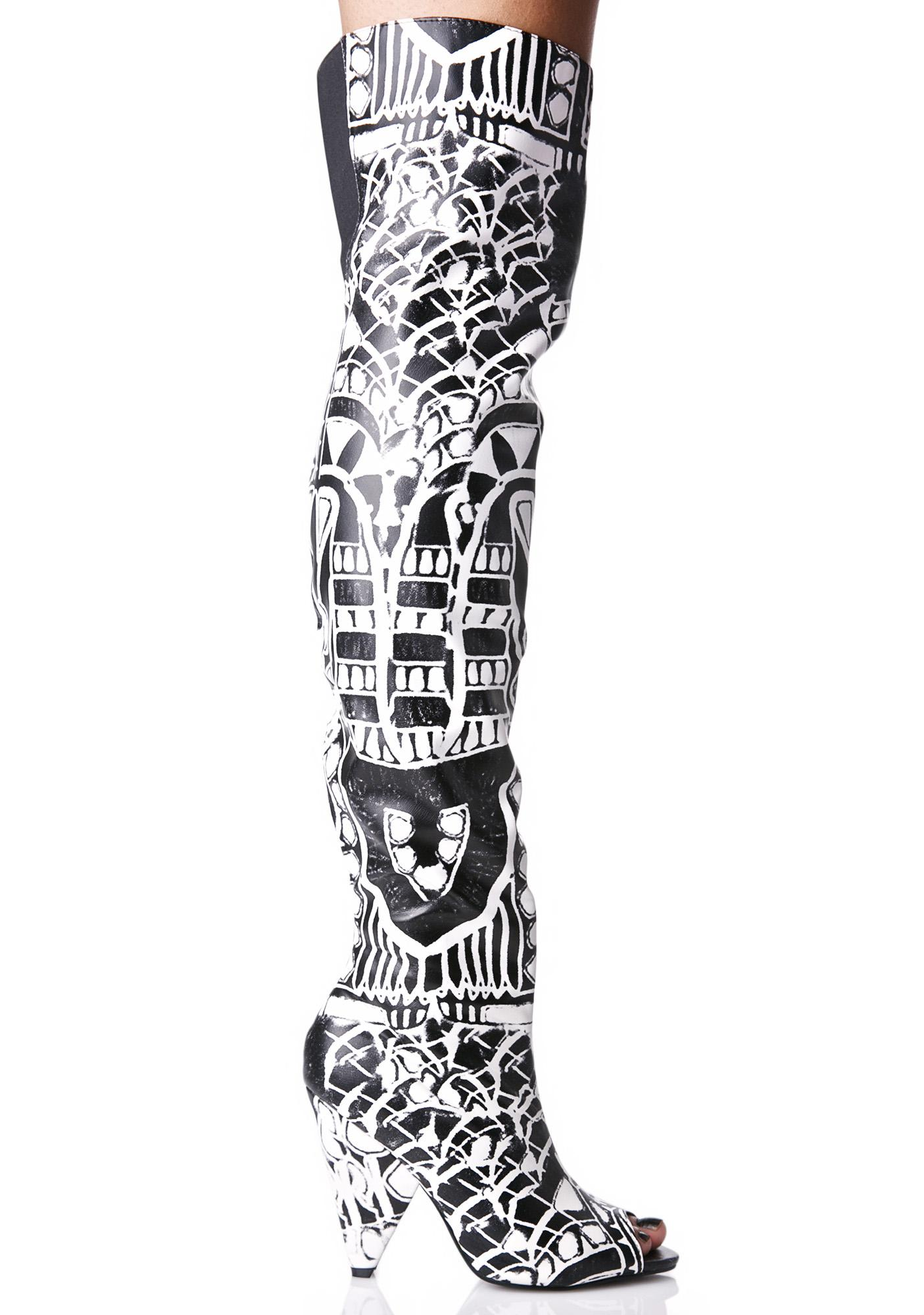 Street Art Thigh-High Boots