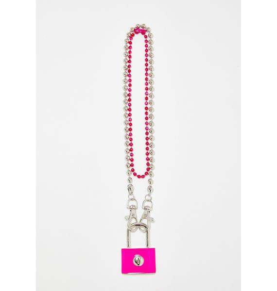 Secured Lock Necklace