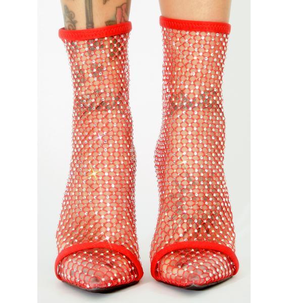 Lipstick Sultry Showstopper Rhinestone Heels