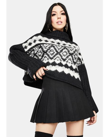 Onyx Alpine Pullover Sweater