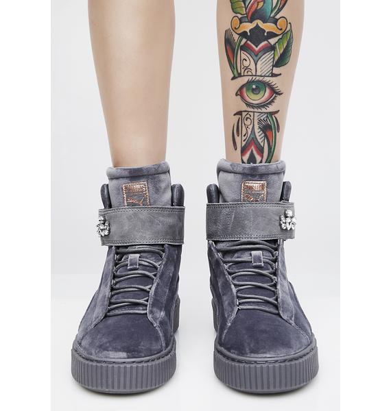PUMA Platform Mid Velour Sneakers