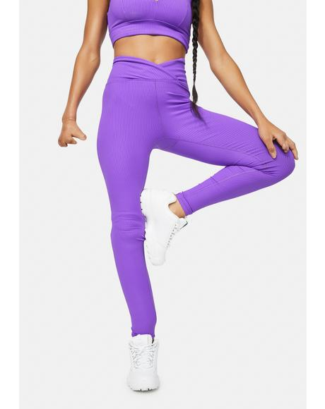 Orchid Veronica Ribbed Leggings