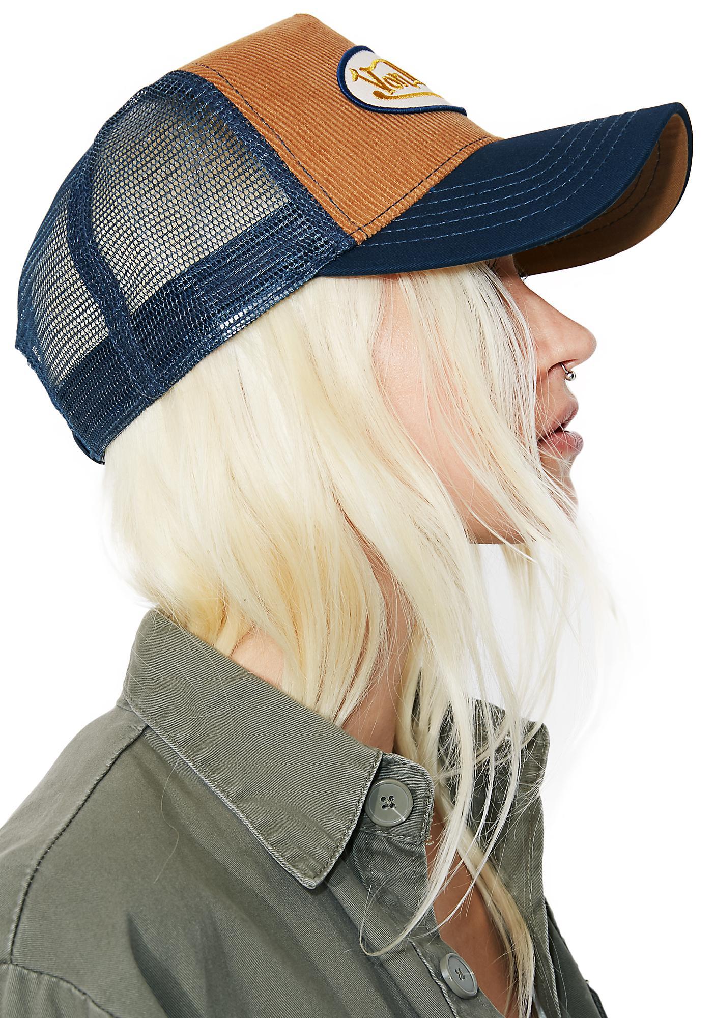 Von Dutch Tan Logo Trucker Hat