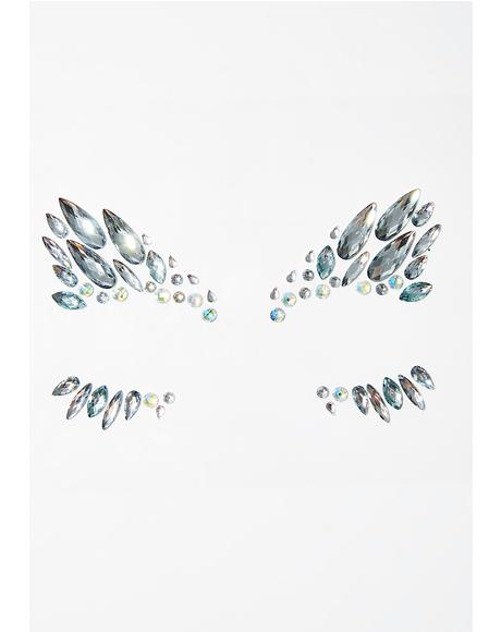 Silver Ice Queen Face Jewels